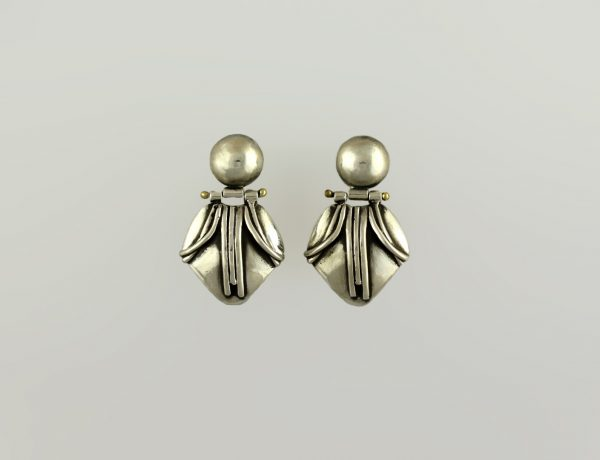 Emma Articulated Silver Earrings