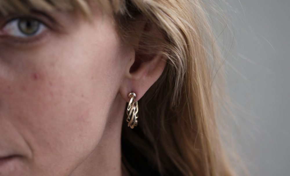 Twist Gold Hoop Earrings