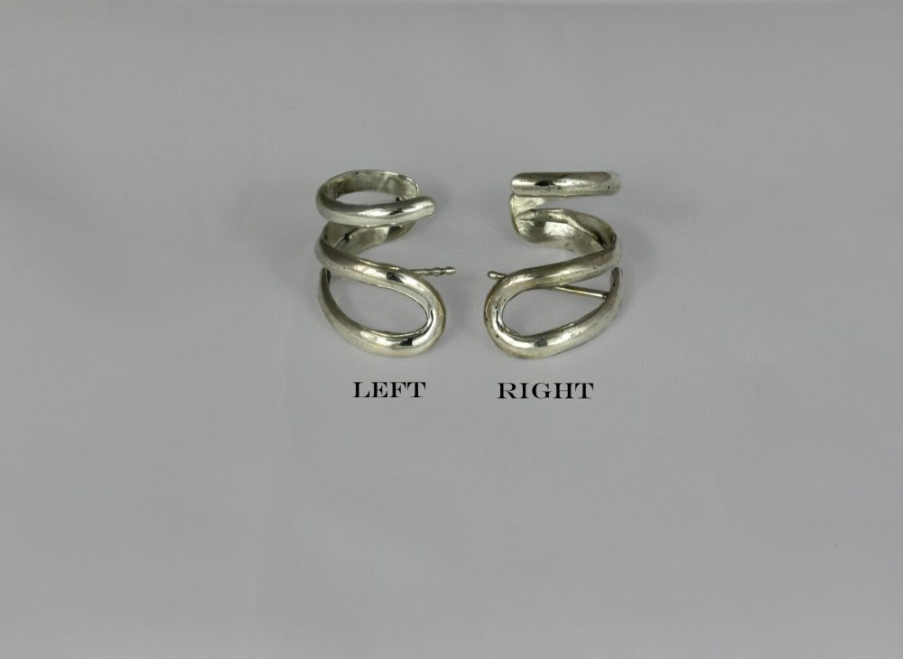 Flow Silver Ear Cuffs