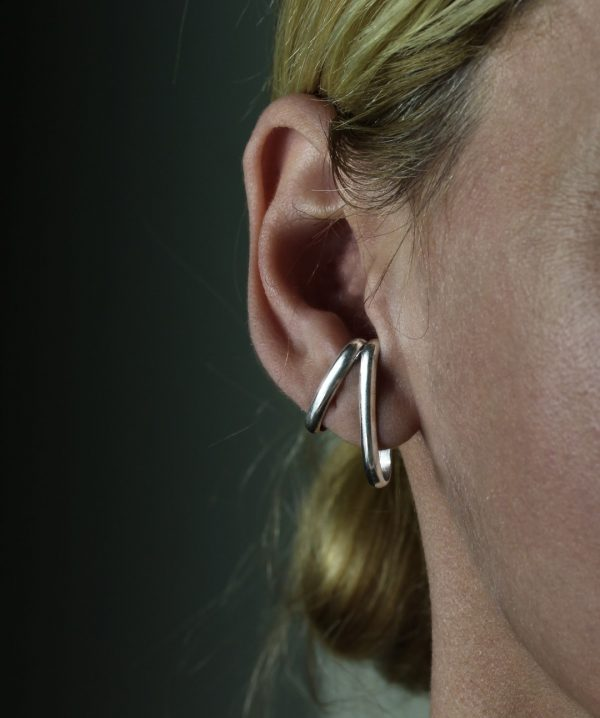 Vendra Silver Ear Cuffs