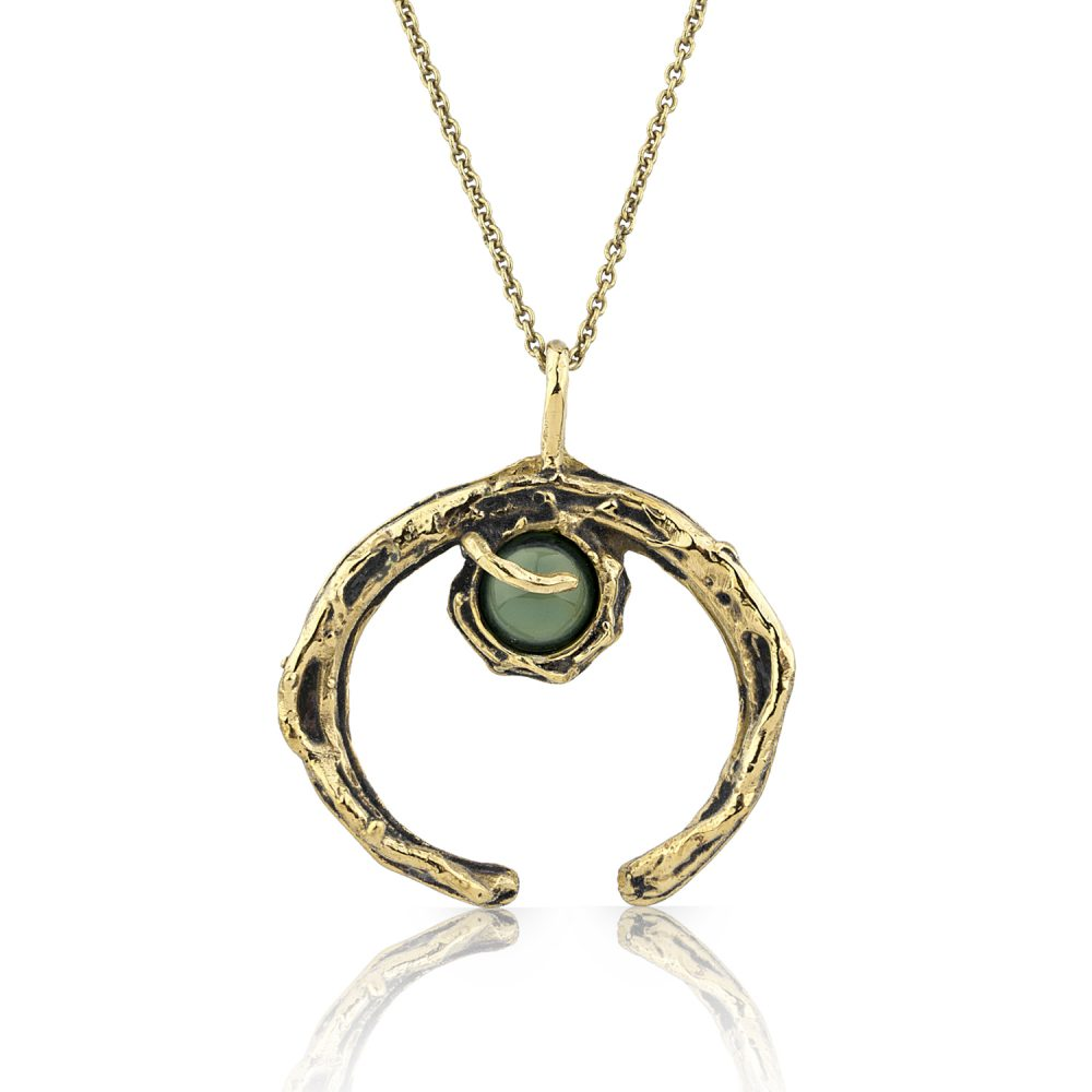 Crescent Moon Agate Necklace