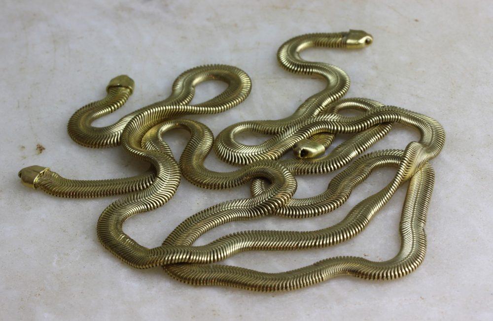 Gold Flat Snake Chain