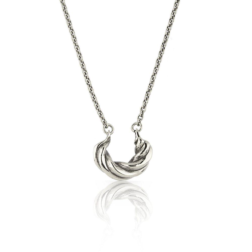Twist Silver Choker Necklace