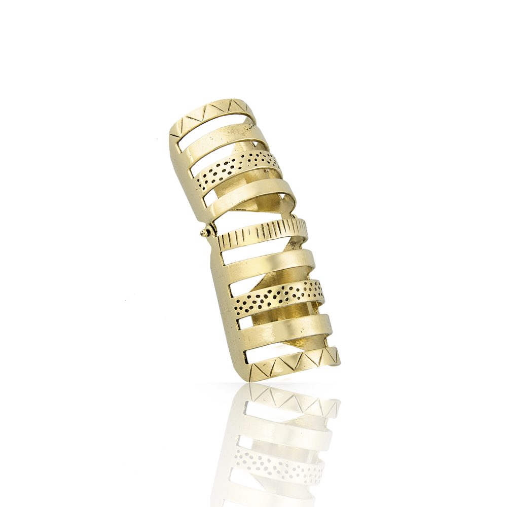 Armor Articulated Gold Ring