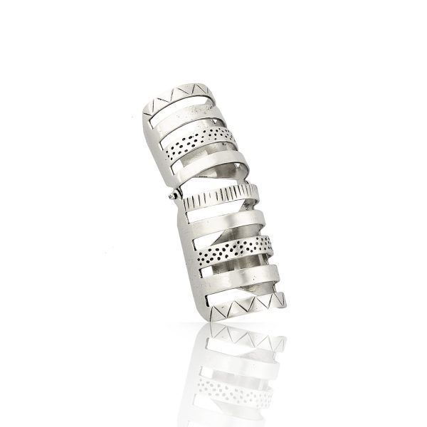 Armor Articulated Silver Ring