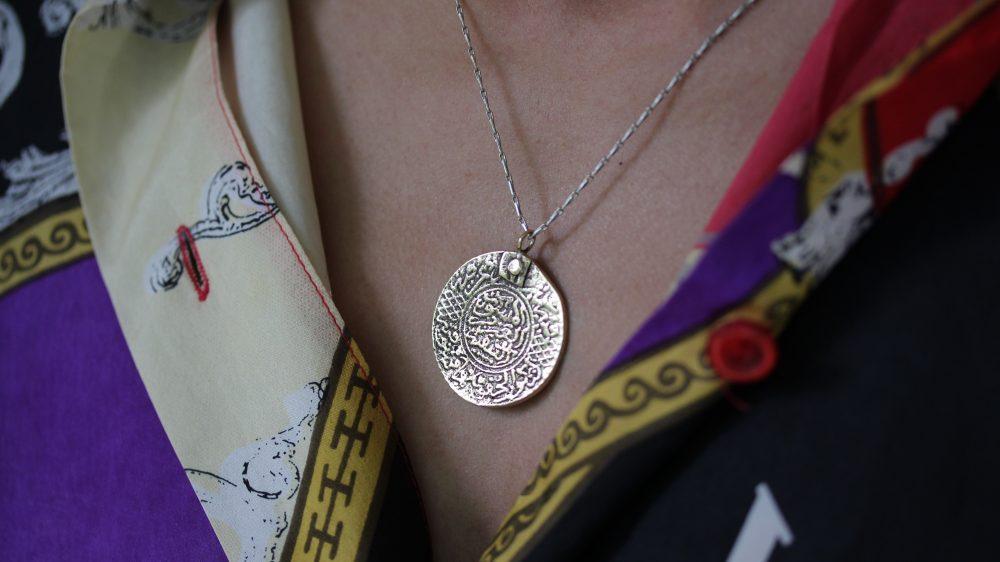 Moroccan Coin Silver Necklace