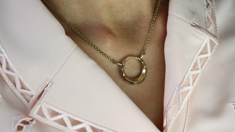 Tuareg Ring Gold Necklace
