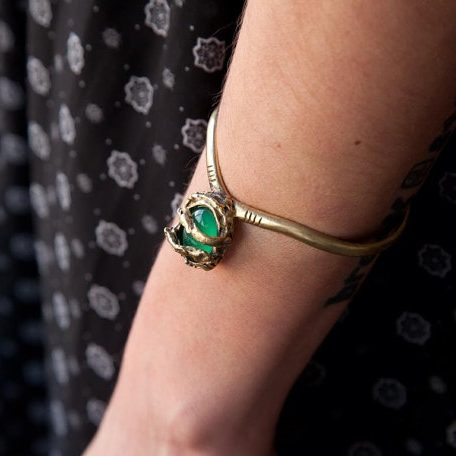 Edith Green Agate Cuff