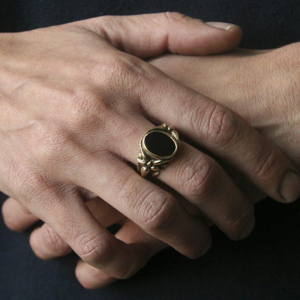 Blossom Black Onyx Ring