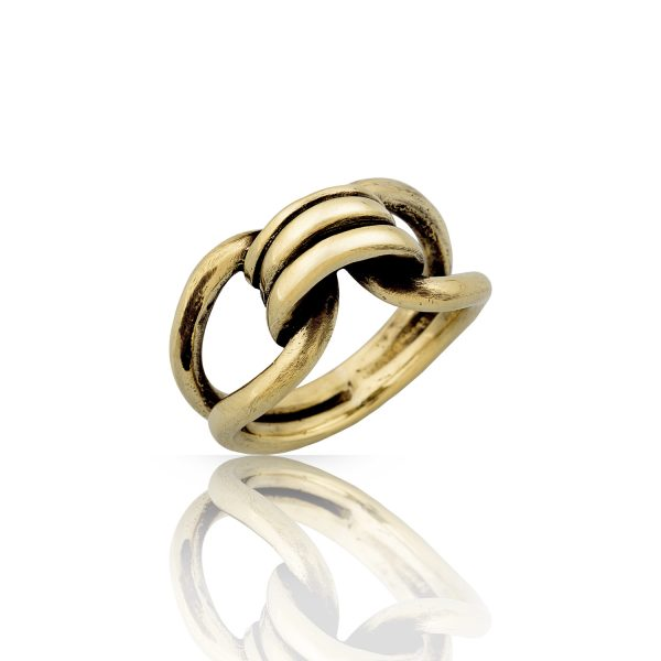 Bond Sculptural Gold Ring