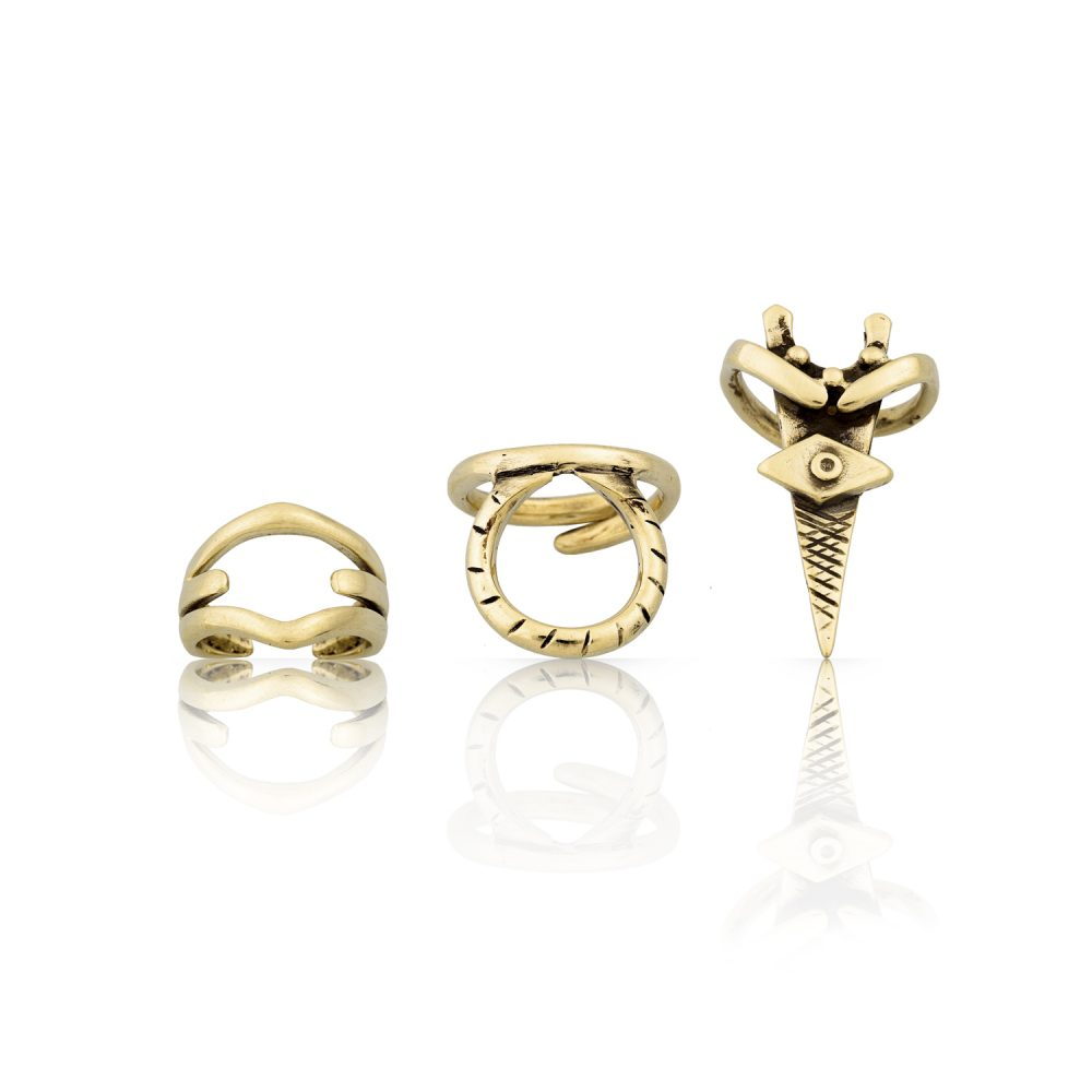 Eumache Gold Ring Set