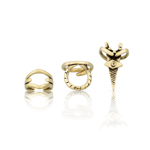 Eumache Gold Ring Set