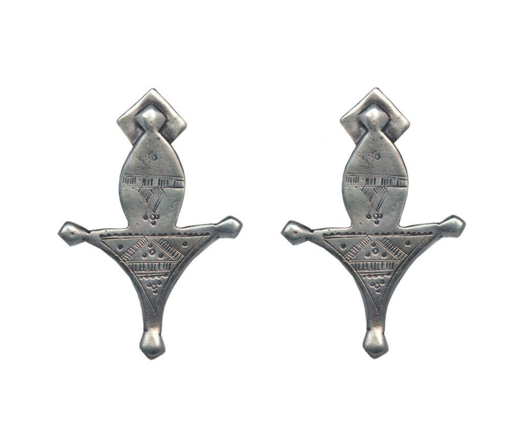 Tuareg Silver Earrings