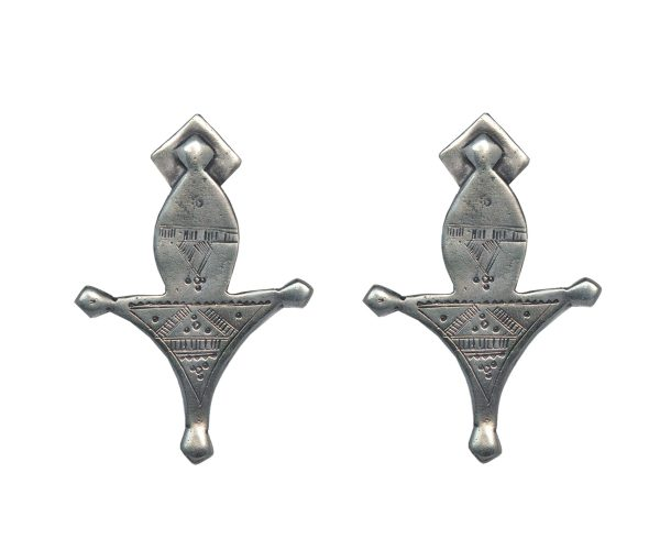 Tuareg Silver Earrings