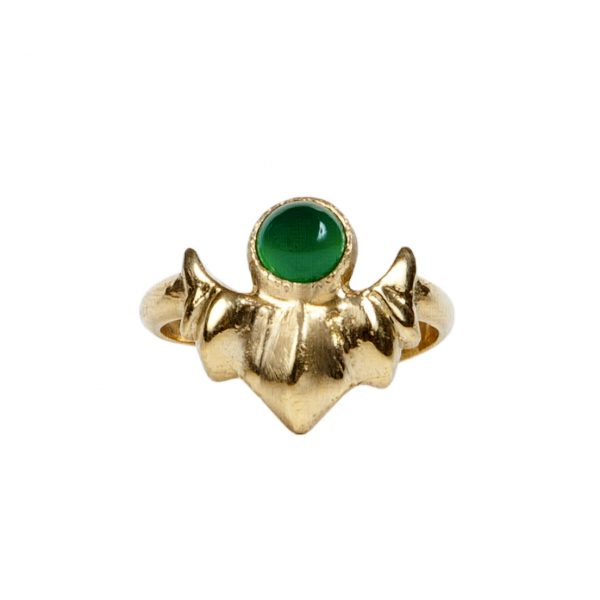 Sun Green Agate Ring