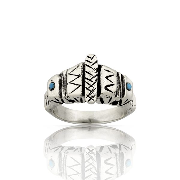Aztec Turquoise Silver Ring