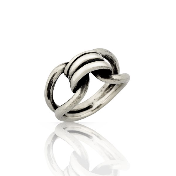 Bond Sculptural Silver Ring