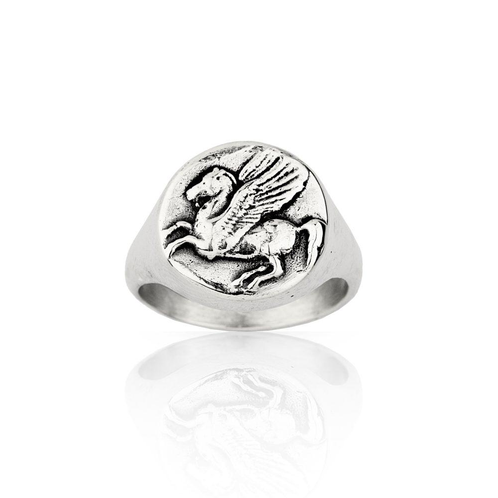 Pegasus Signet Silver Ring