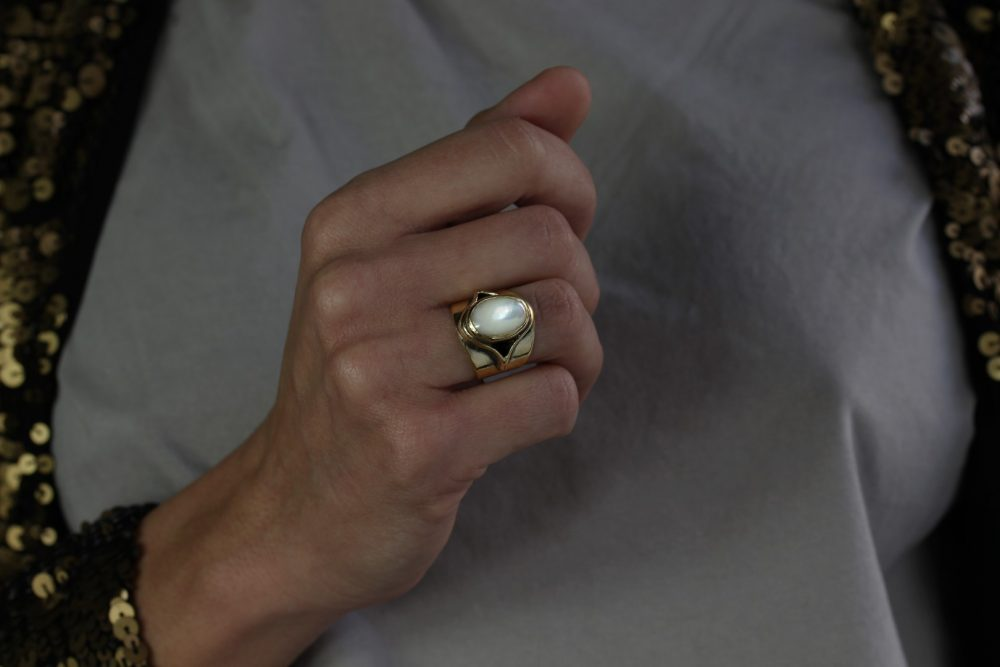 Juno Mother of Pearl Ring