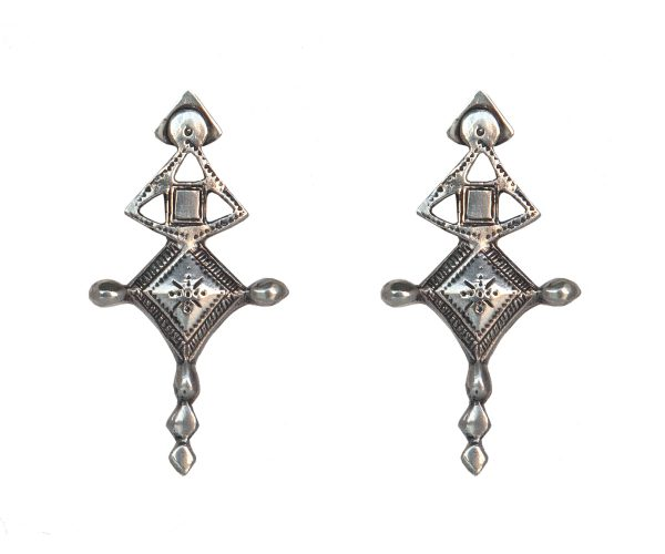 Aysha Tuareg Silver Earrings