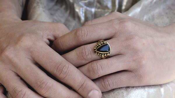 Orna Onyx Crystal Ring