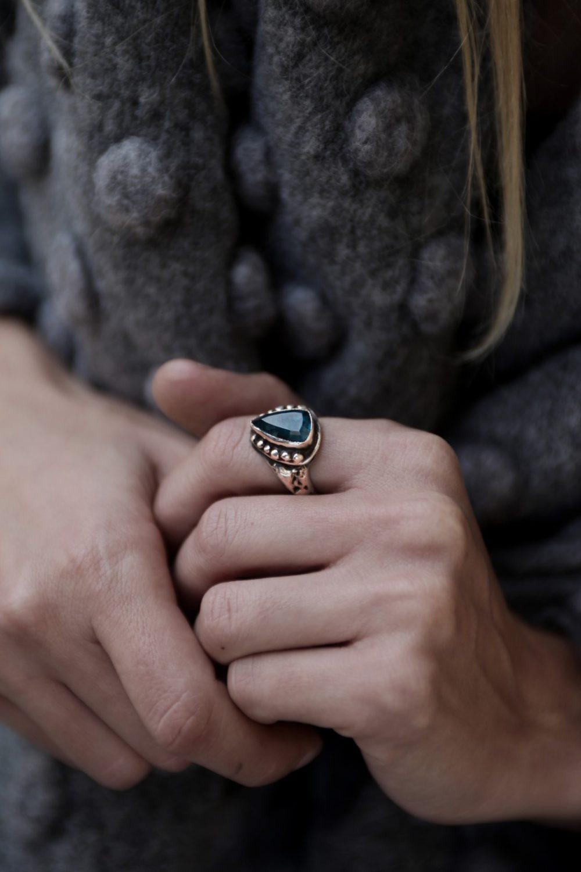 Orna Apatite Silver Ring