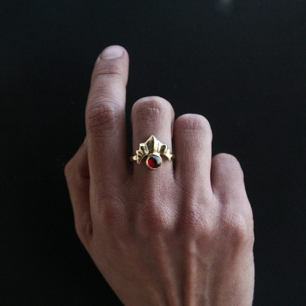 Sun Red Garnet Ring