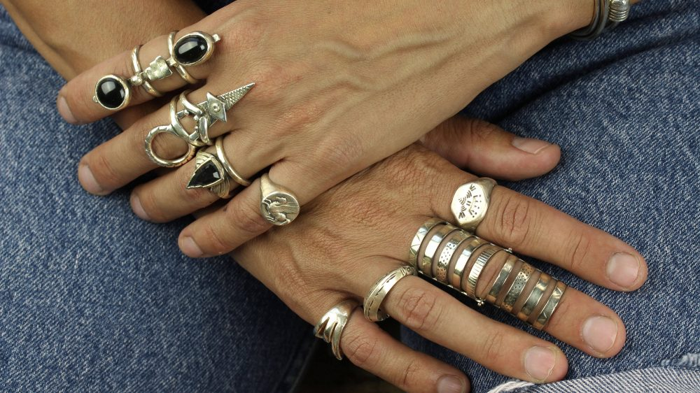 Warrior Onyx Silver Ring