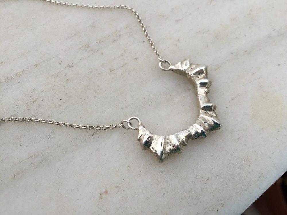 Sun Silver Choker Necklace