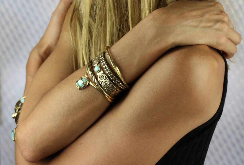 Tuareg Engraved Gold Cuff