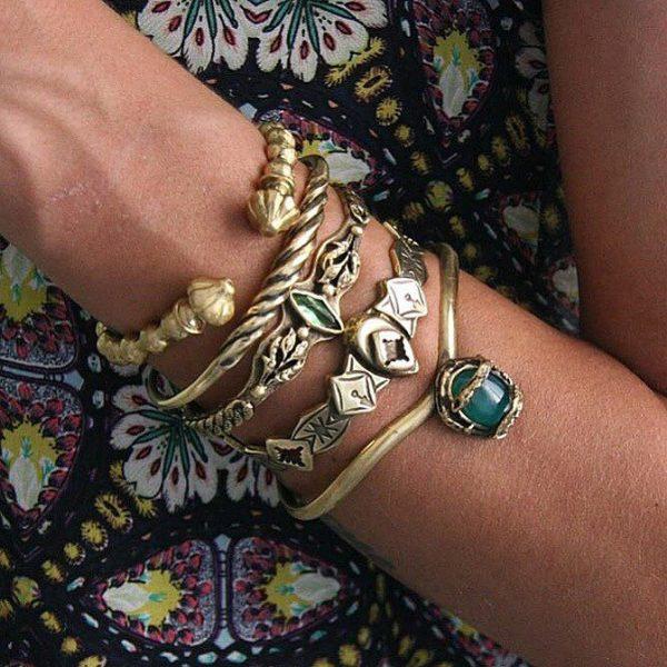 Twist Gold Cuff Bracelet