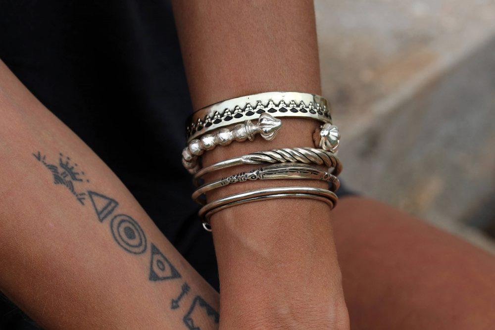 Twist Silver Cuff Bracelet