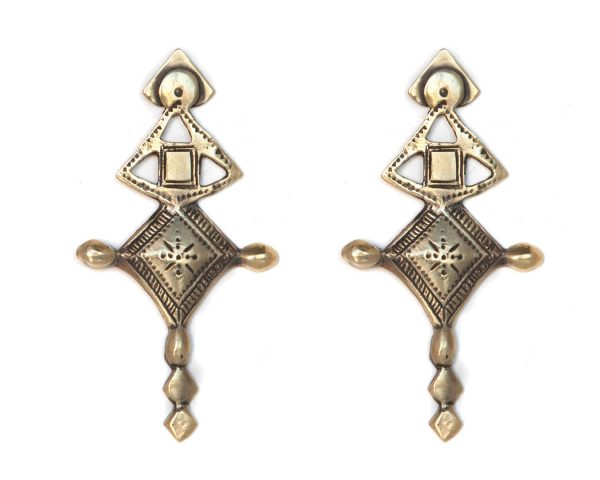 Aysha Tuareg Gold Earrings