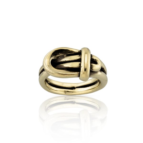 Buckle Sculptural Gold Ring