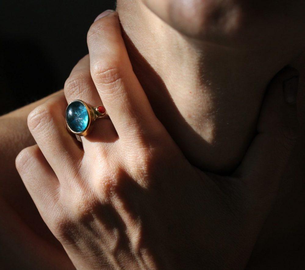 Frida Apatite Silver Ring