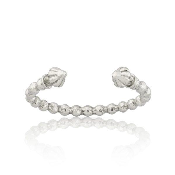 Hera Silver Cuff Bracelet