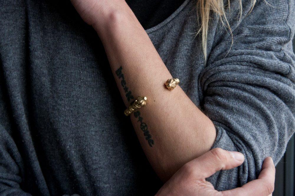 Hera Gold Cuff Bracelet