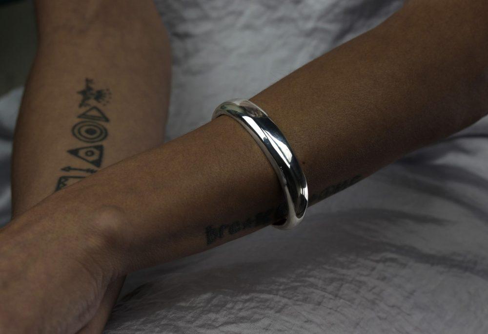 Arctic Silver Cuff Bracelet