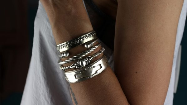 Bond Sculptural Silver Cuff