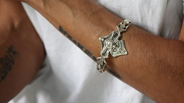 Berber Engraved Silver Cuff