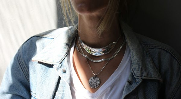 Armor Silver Choker Necklace