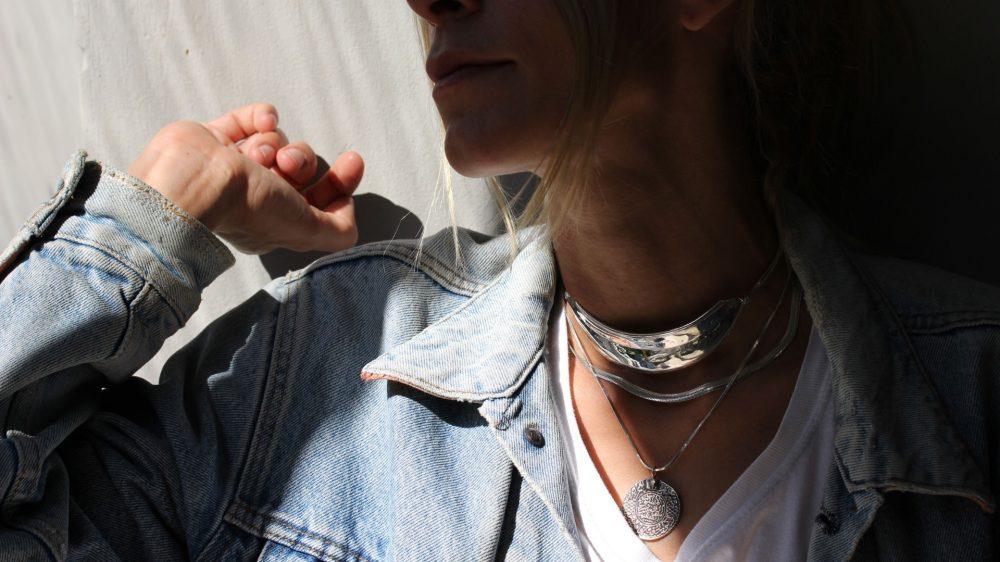 Armor Silver Choker Necklace