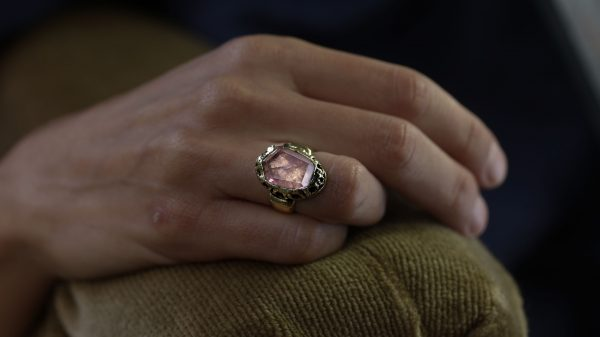 Elizabeth Morganite Filigree Ring