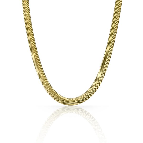 Gold Flat Snake Chain