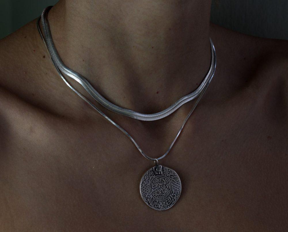 Flat Herringbone Silver Chain