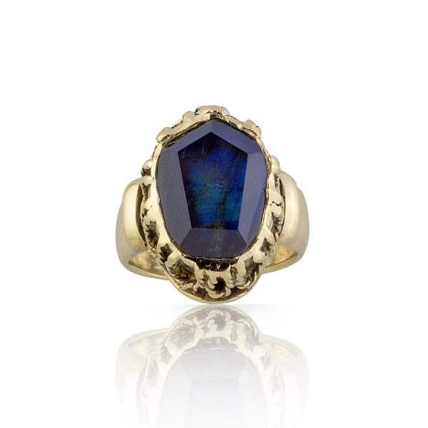 Elizabeth Spectrolite Filigree Ring