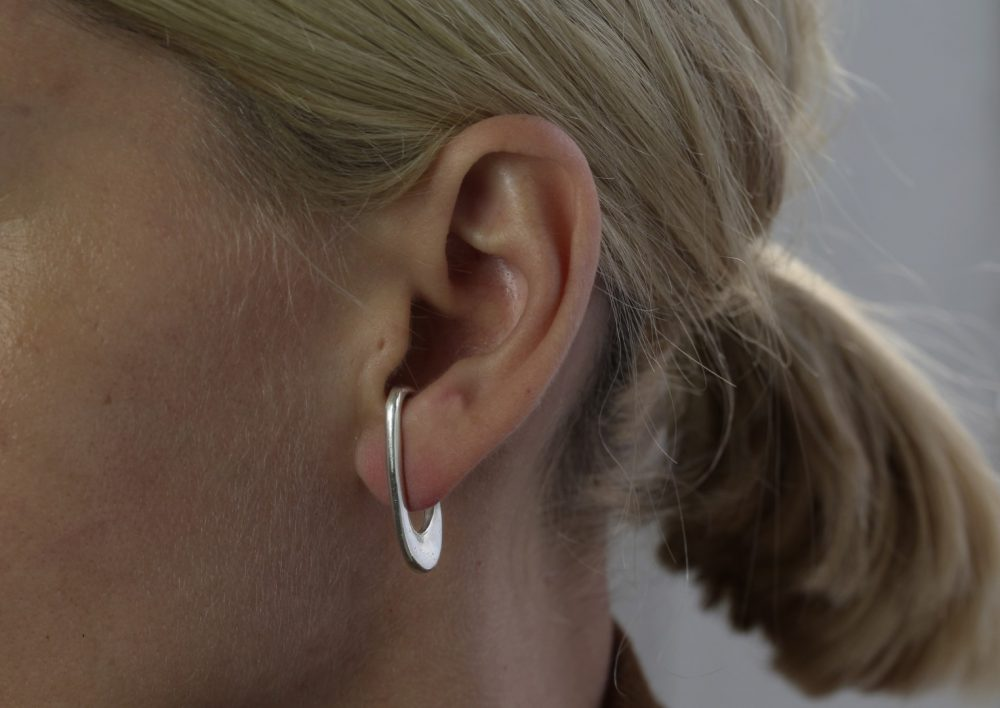 Theta Silver Ear Cuff