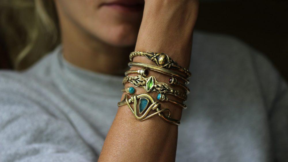 Acorn Minimalist Cuff Bracelet
