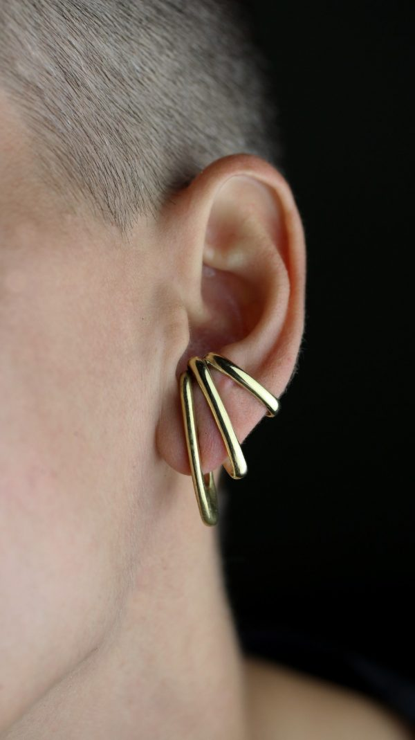 Vendra Gold Ear Cuffs