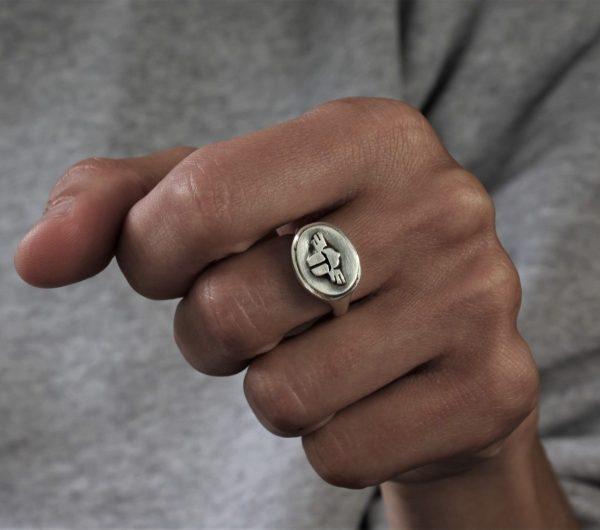 Scarab Signet Silver Ring